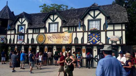 Our first look at the Entrance to Bristol Renaissance Faire!!